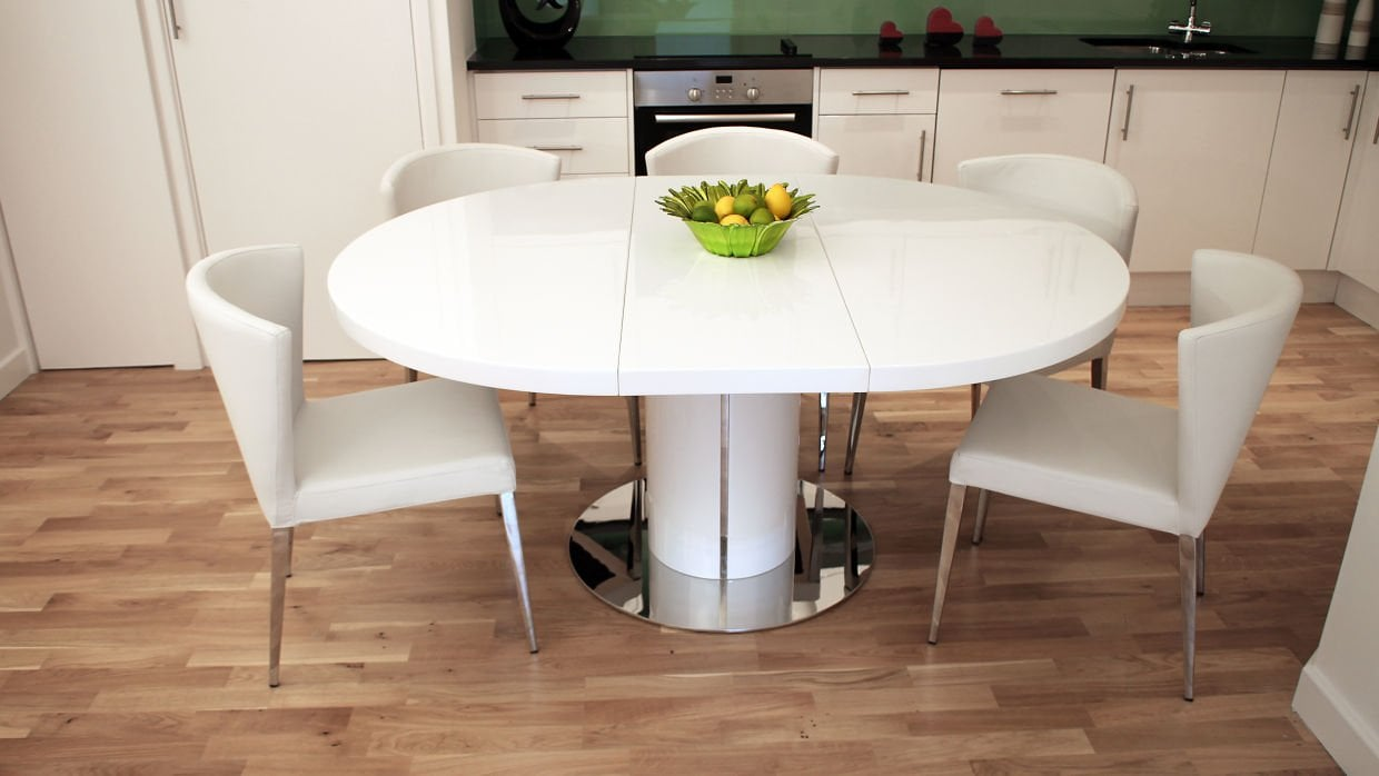 Expandable Dining Table White