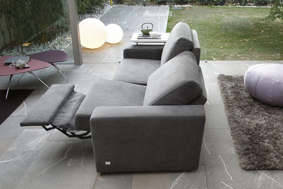 Fabric Modern Reclining Sofa