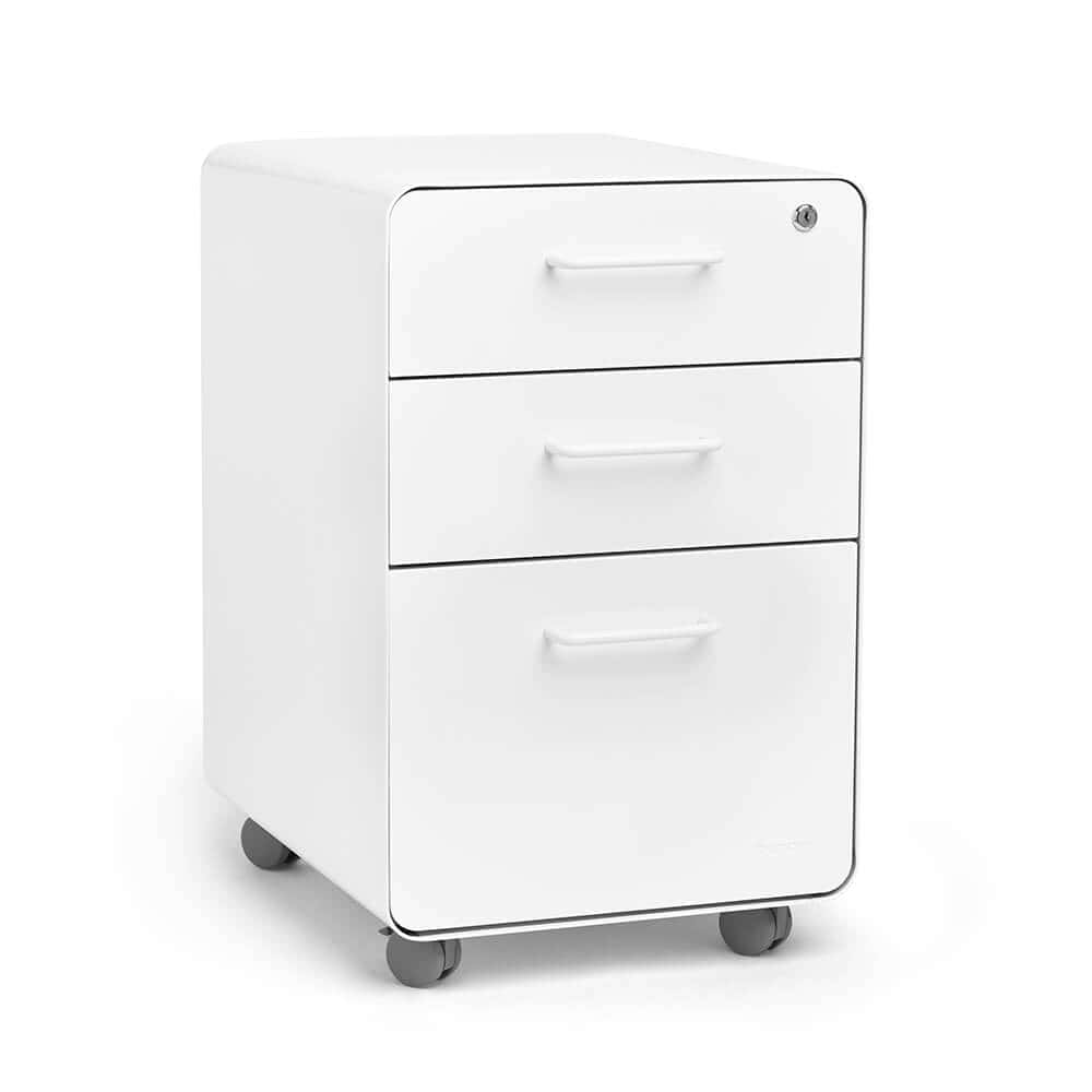 Elegant Clean White Filing Cabinets That Look Like Furniture
