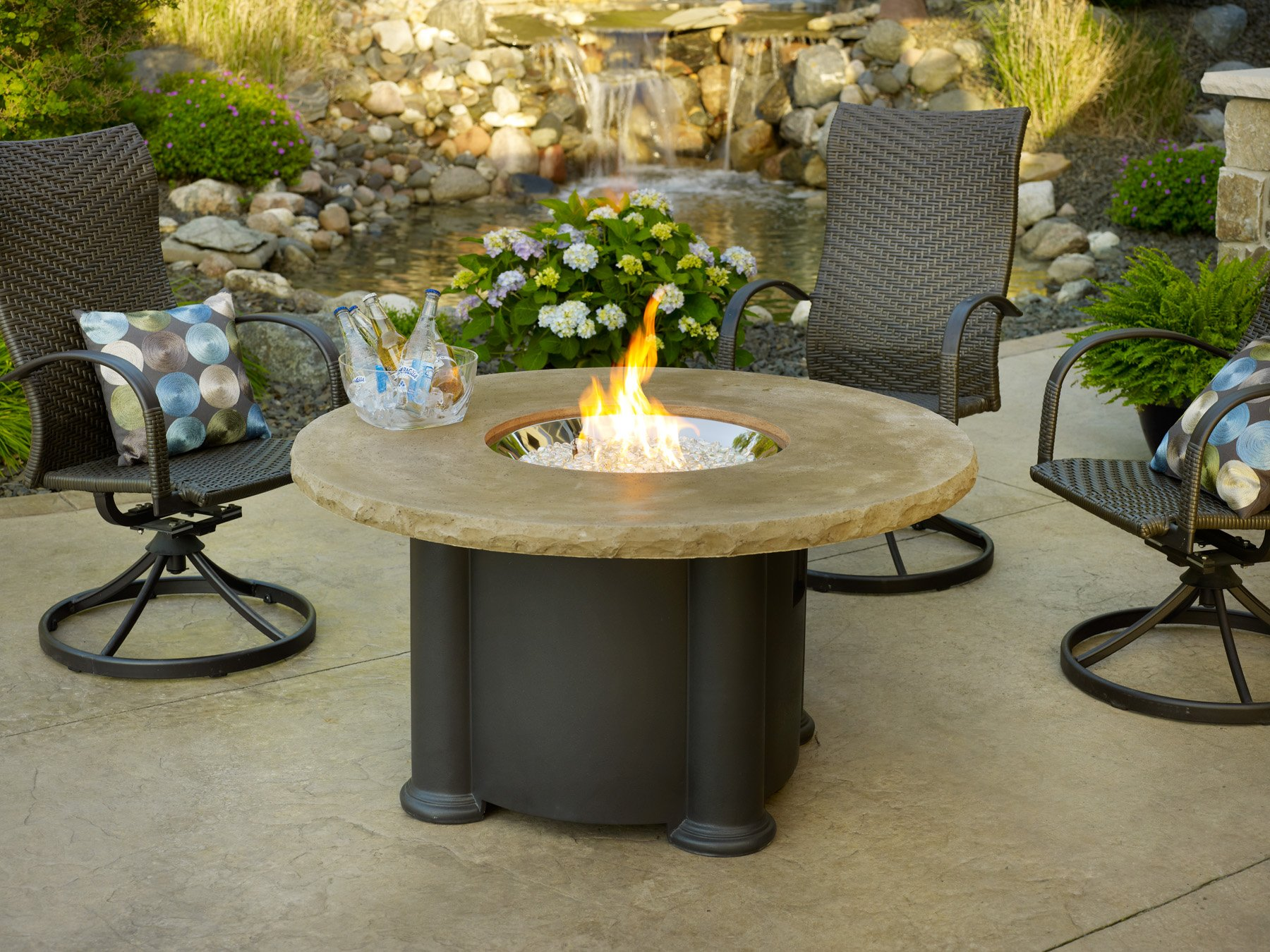 Fire Pit Coffee Table Decor