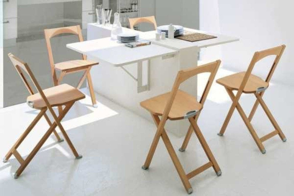 Foldable Dining Table With Chairs