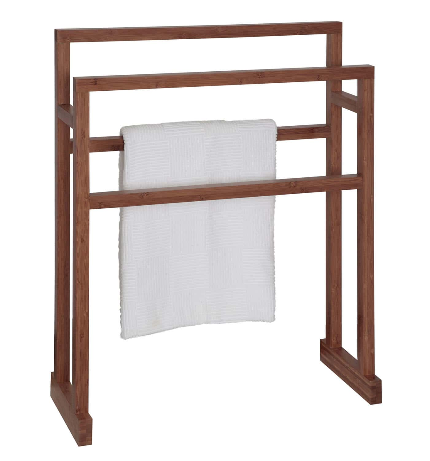 Free Standing Wooden Towel Rack