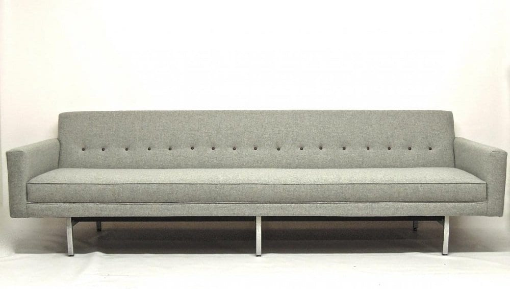 Furniture Mid Century Leather Sofa