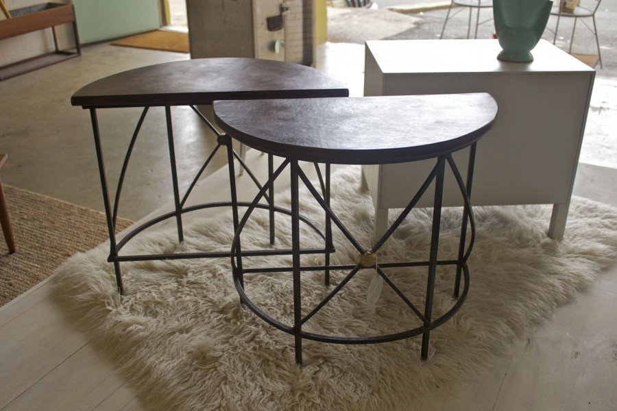 Furniture Wrought Iron End Tables