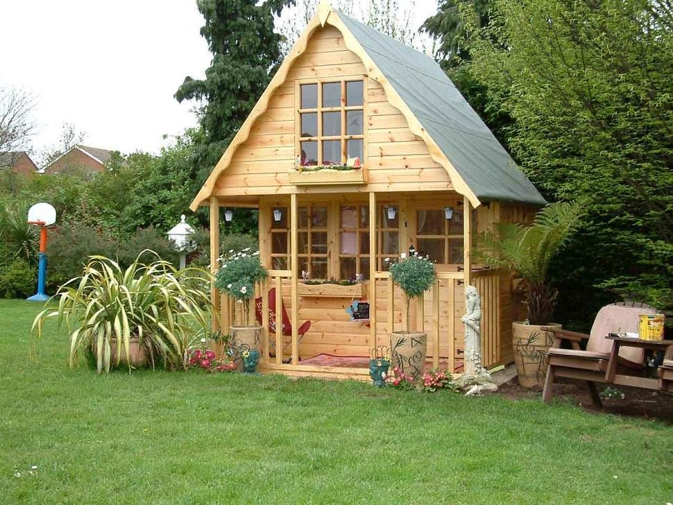 Garden Kids Wooden Playhouse