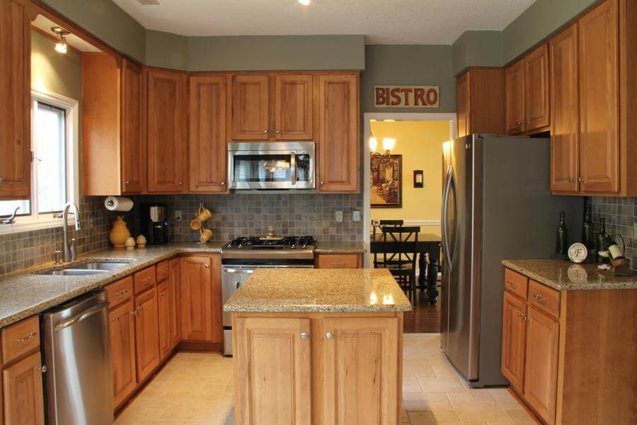 Hickory Kitchen Cabinets Island – Loccie Better Homes ...
