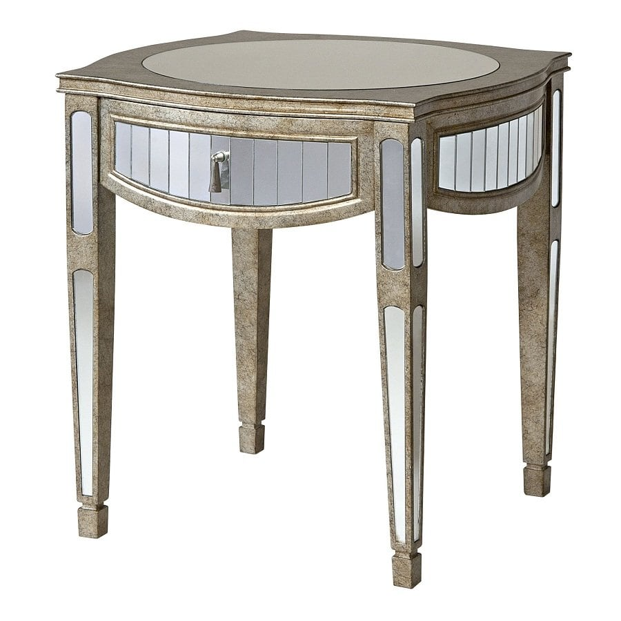 Ideas Mirrored End Table