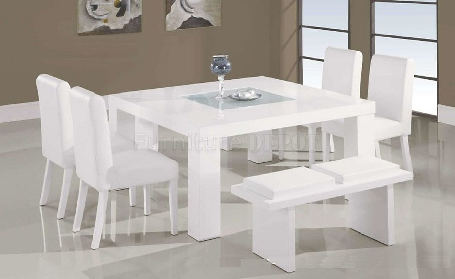 Ideas White Lacquer Dining Table