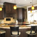 Dark Kitchen Island Stools Design