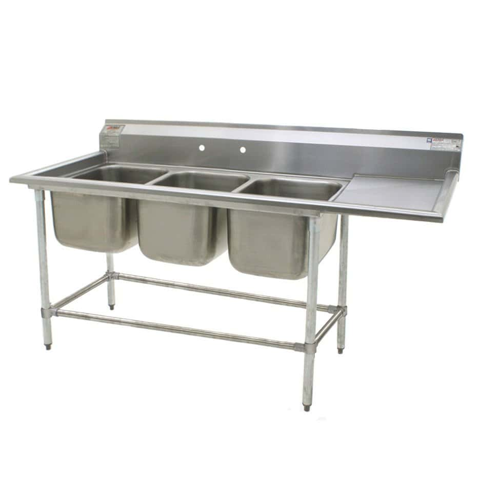 Kitchen Sink With Drainboard Stainless