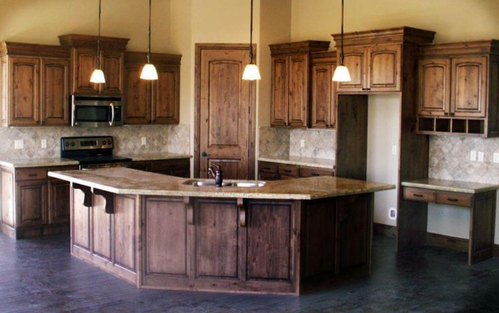 Knotty Alder Cabinets Natural