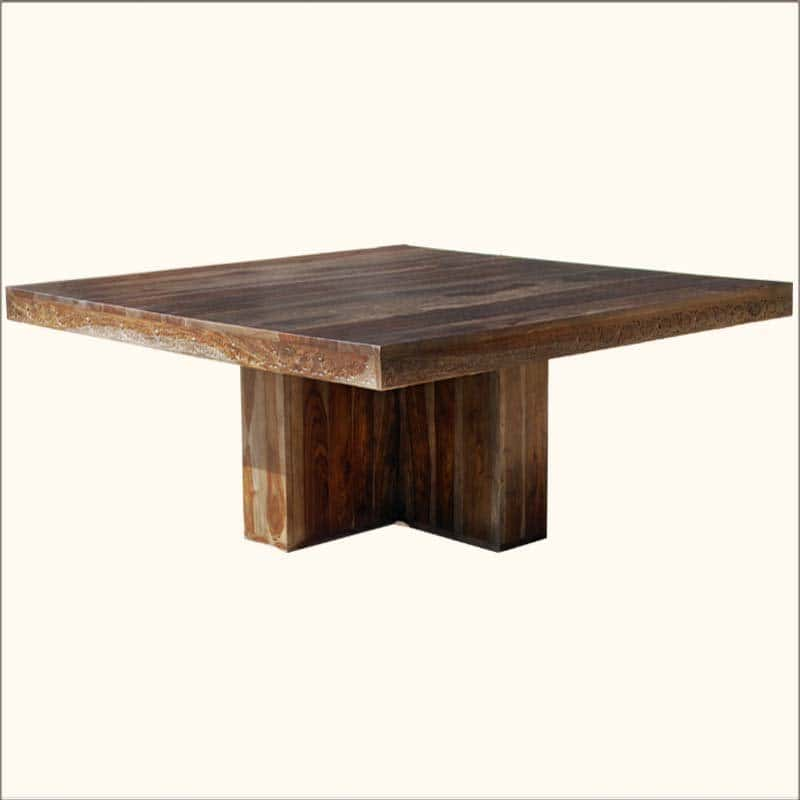 Large Square Pedestal Dining Table