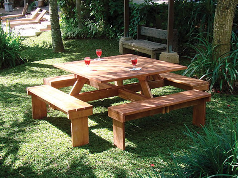 Large Square Picnic Table