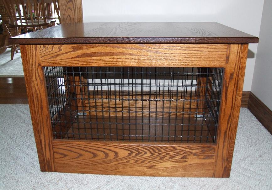 Lasge Dog Crate End Table
