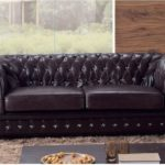 Dark Leather Chesterfield Sofa Comfortable