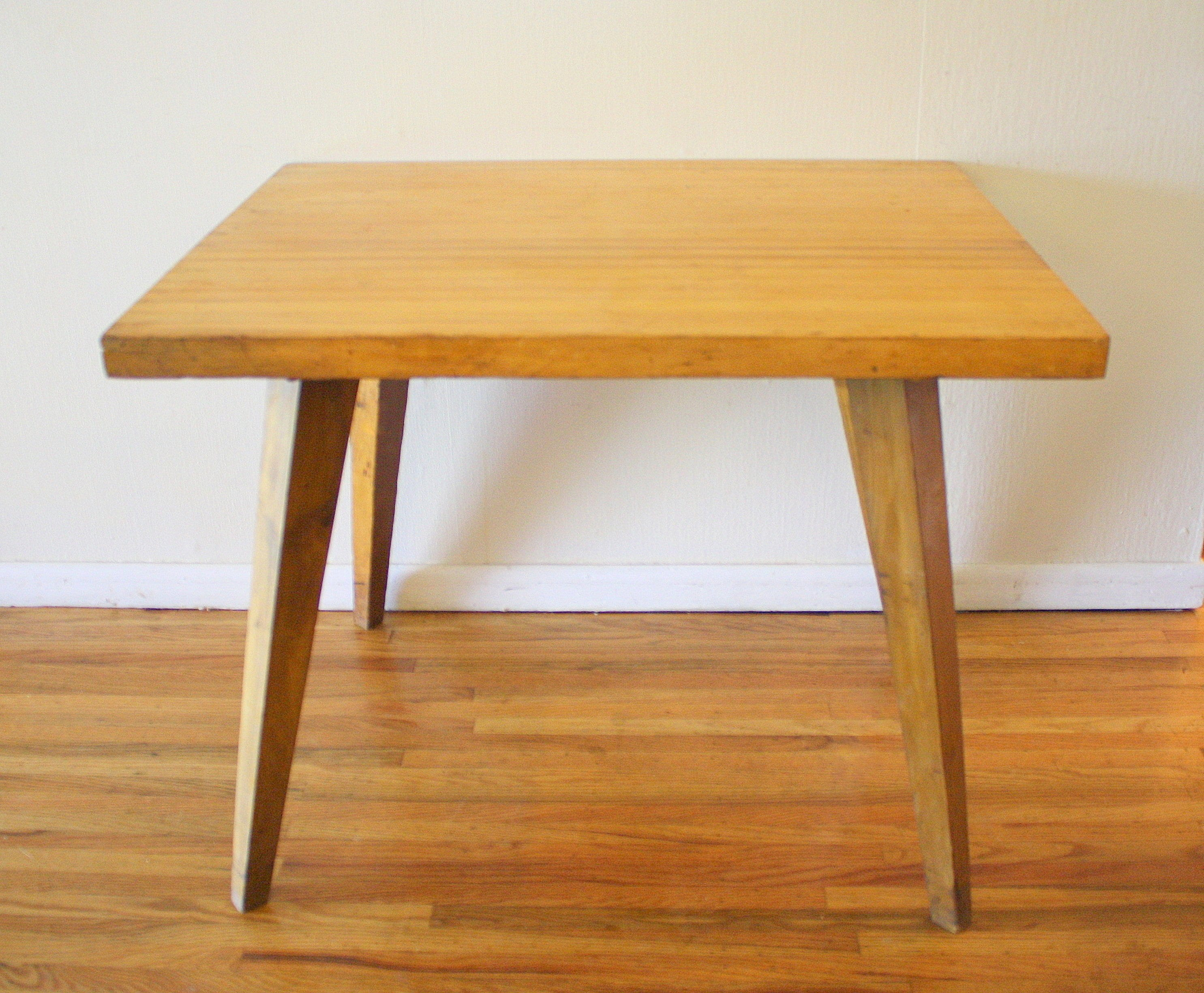 Mid Century Butcher Block Kitchen Table