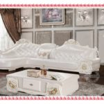 Mission Style Sofa White