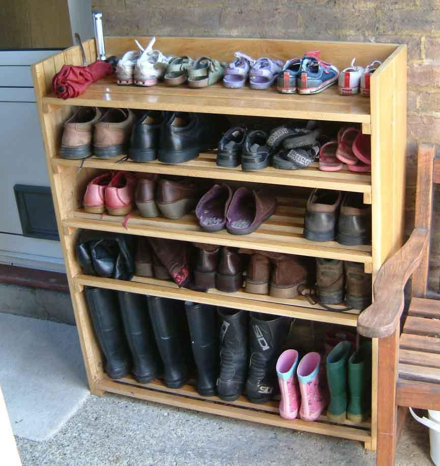 Model Of Wooden Shoe Racks