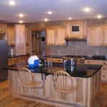Modern Hickory Kitchen Cabinet