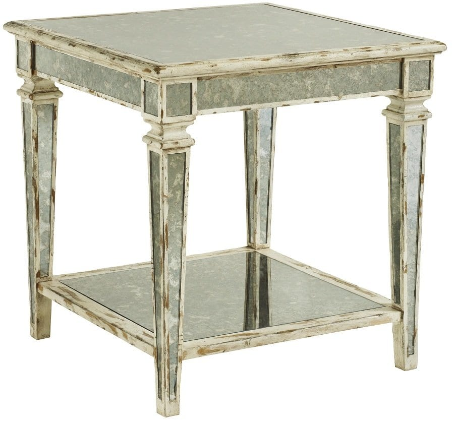 Modern Mirrored End Table
