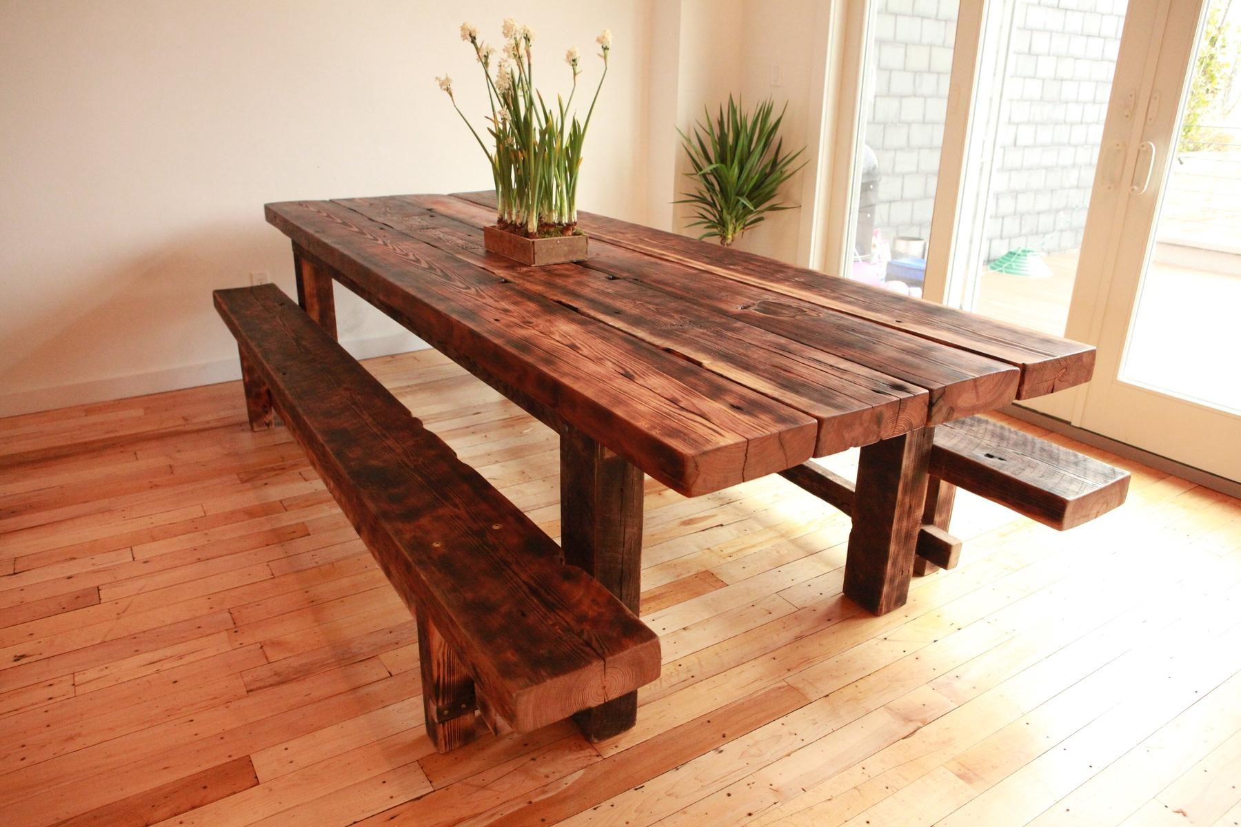 Modern Reclaimed Wood Ddining Room Table