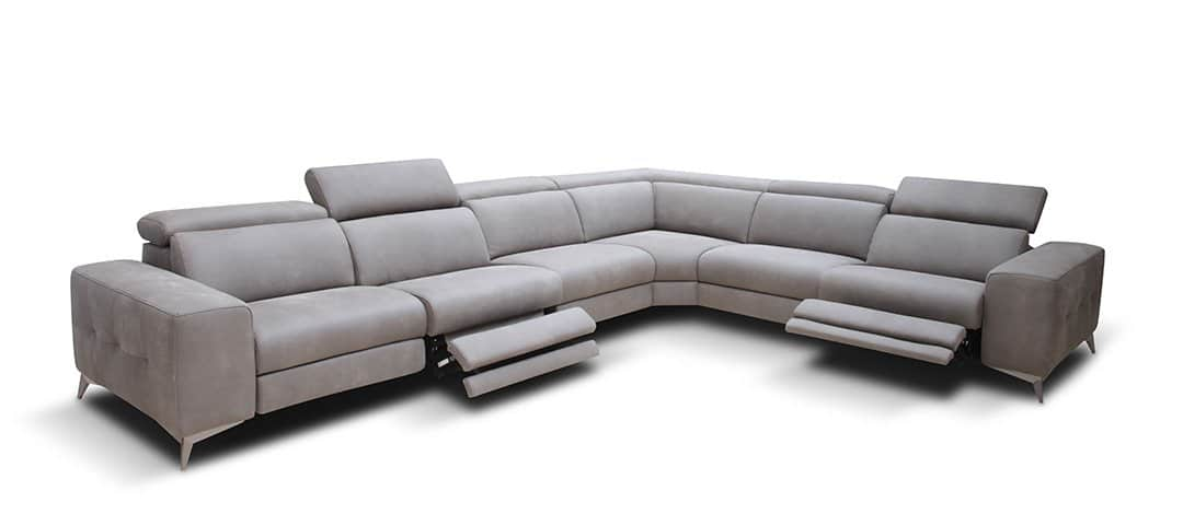 Modern Reclining Sofa Leather
