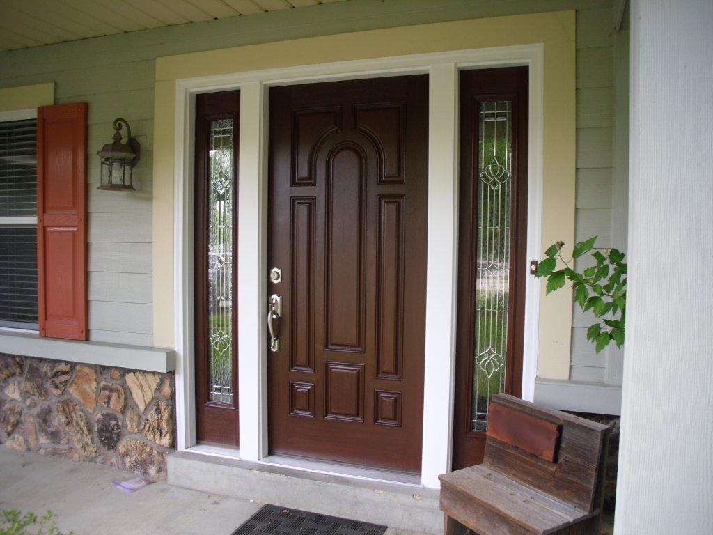 Modern Solid Wood Exterior Doors