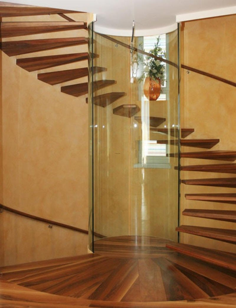 Modern Wooden Spiral StaircaseOutside Wooden Spiral Staircase