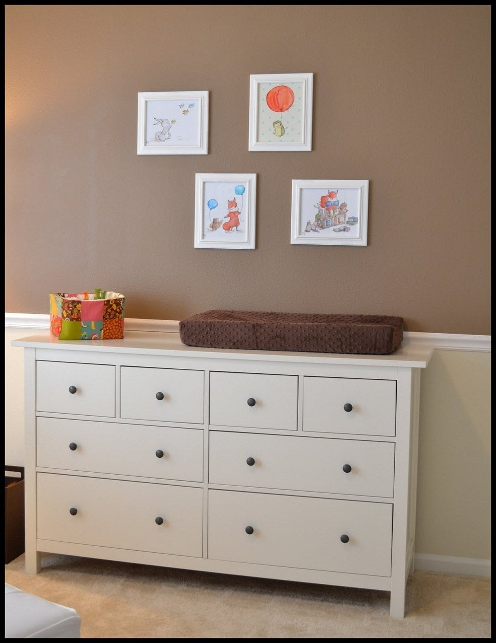 Nice White Changing Table Dresser