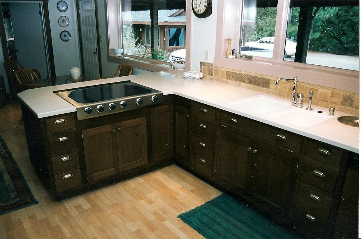 Oak Restaining Kitchen Cabinets