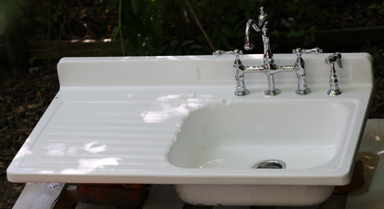 Old Kitchen Sink With Drainboard Loccie Better Homes