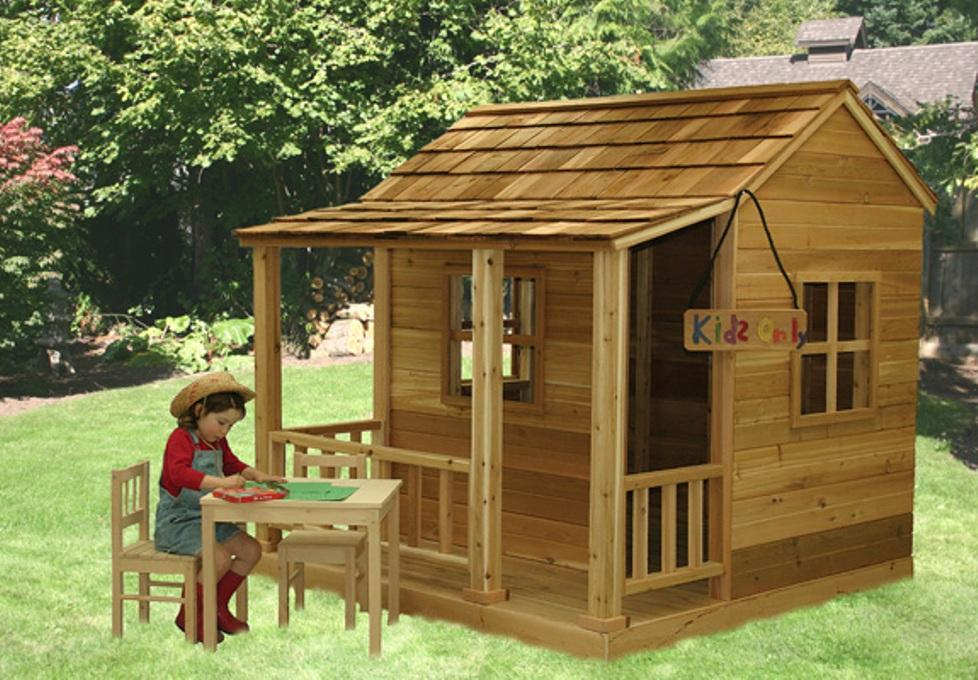 Outdoor Wooden Playhouse Costco Loccie Better Homes