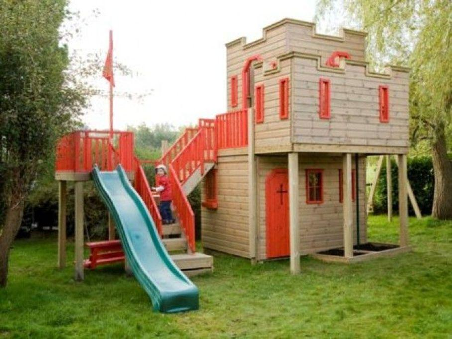 Cute Outdoor Wooden Playhouse Costco