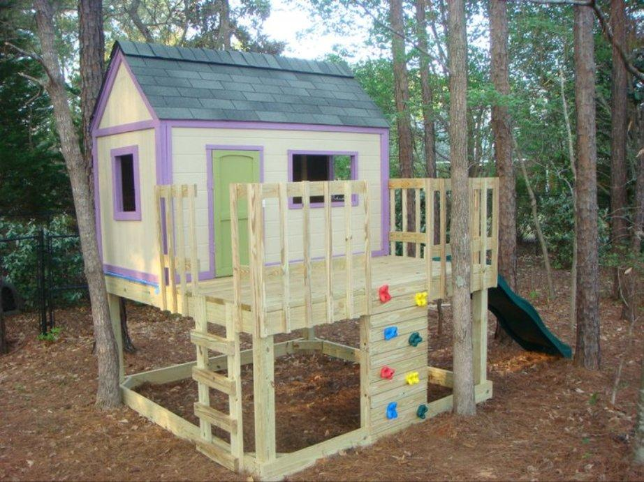 Outdoor Wooden Playhouse Accessories Ideas