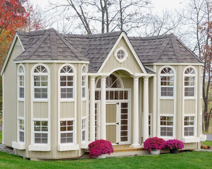 Cream Outdoor Wooden Playhouse Accessories