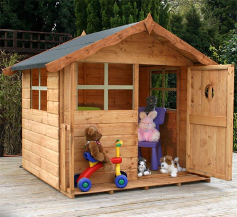 Kids Loved Outdoor Wooden Playhouse