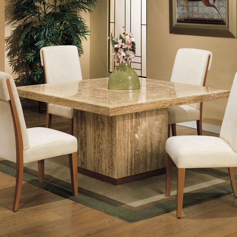 Square Table Seats 8: Pedestal Square Dining Table Seats 8