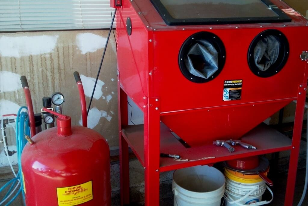 Picture Of Sand Blasting Cabinet