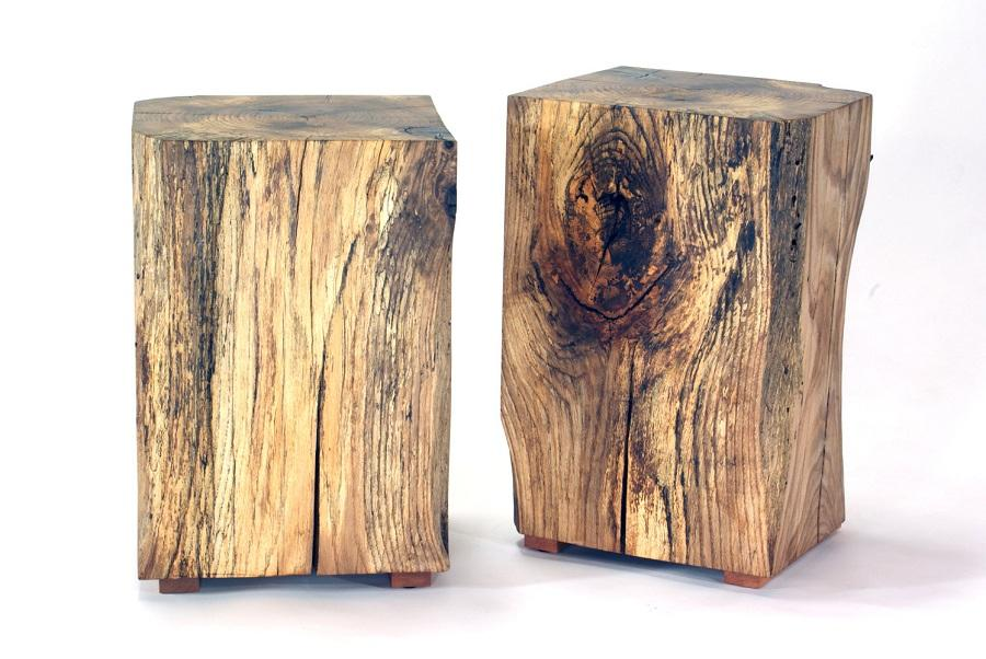 Popular Reclaimed Wood Side Table