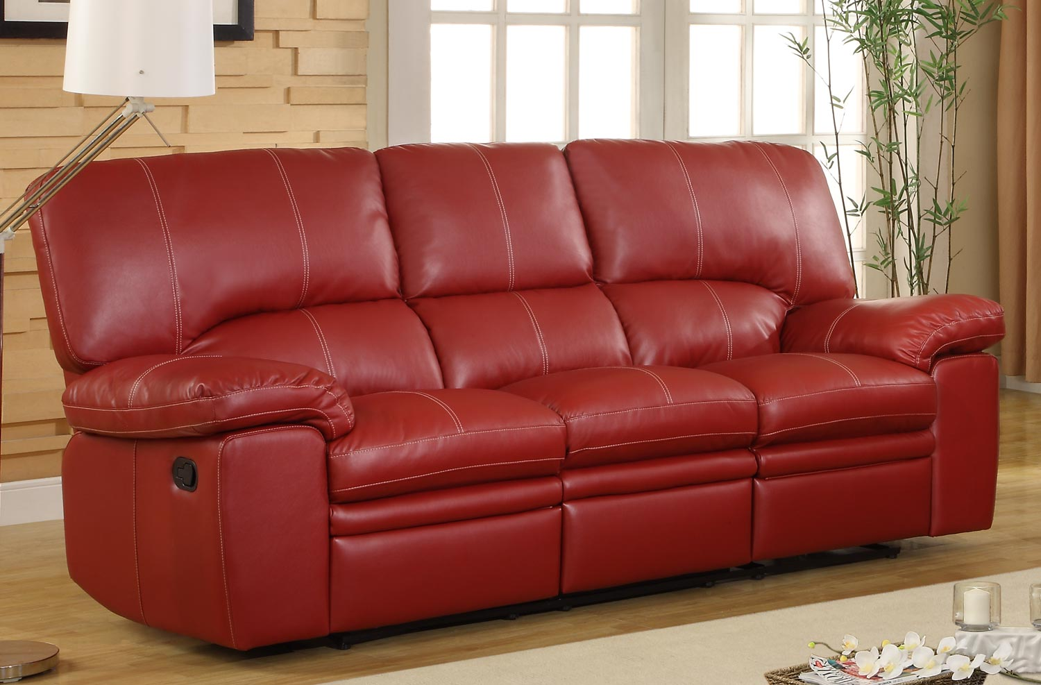 Red Dual Reclining Sofa