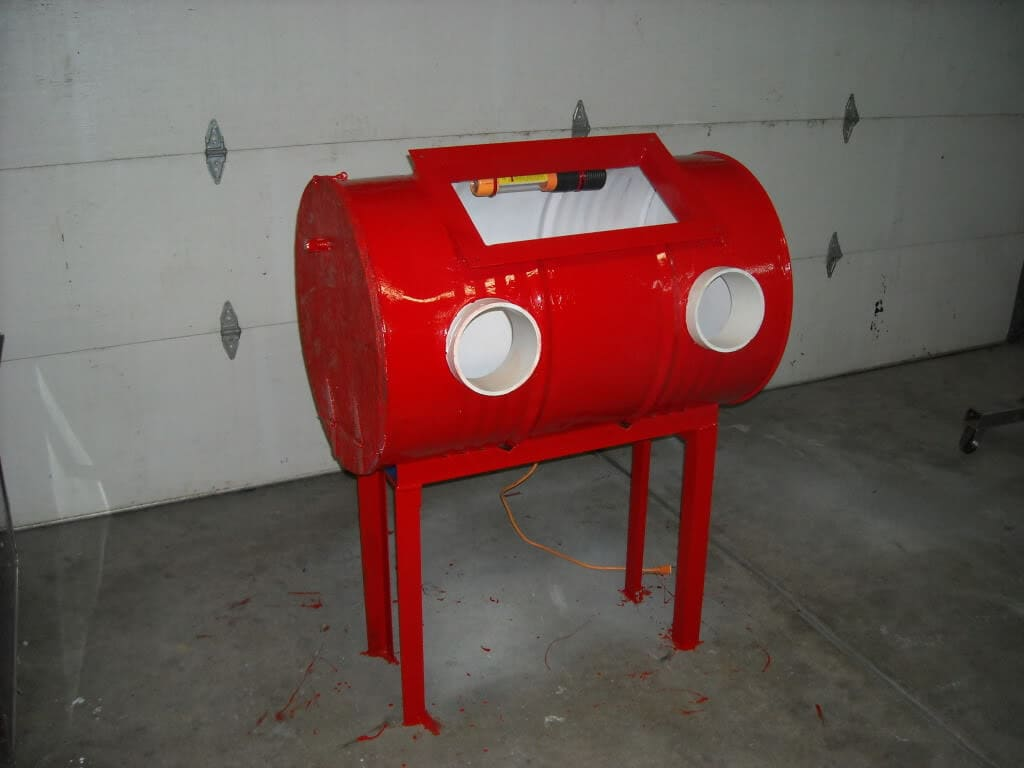 Red Sand Blasting Cabinet