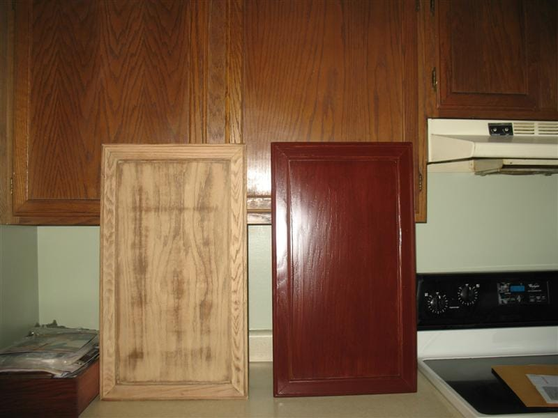 Restaining Kitchen Cabinets Decorative