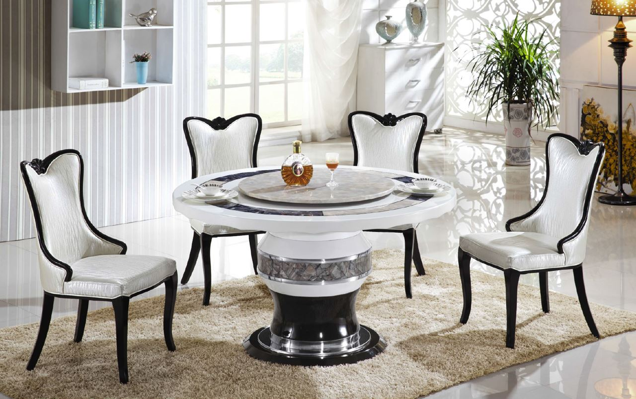 Round Marble Dining Table For 4