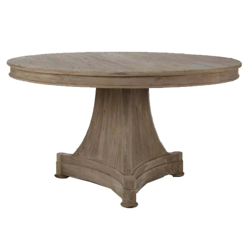 Unpolished Round Pedestal Dining Table Ideas