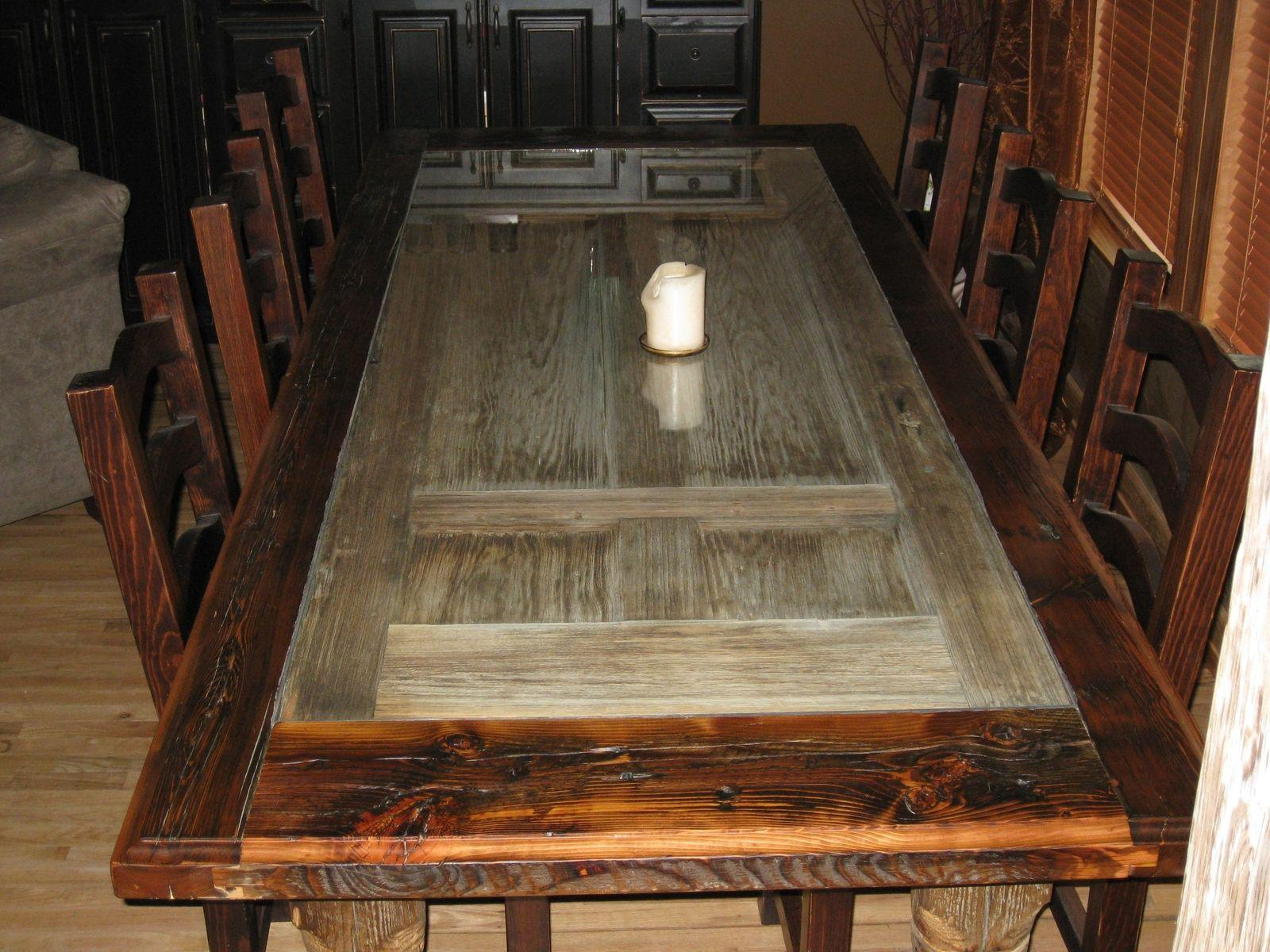 Rustic Reclaimed Wood Kitchen Table