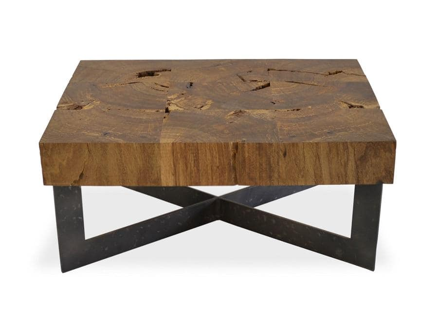 Rustic Reclaimed Wood Side Table