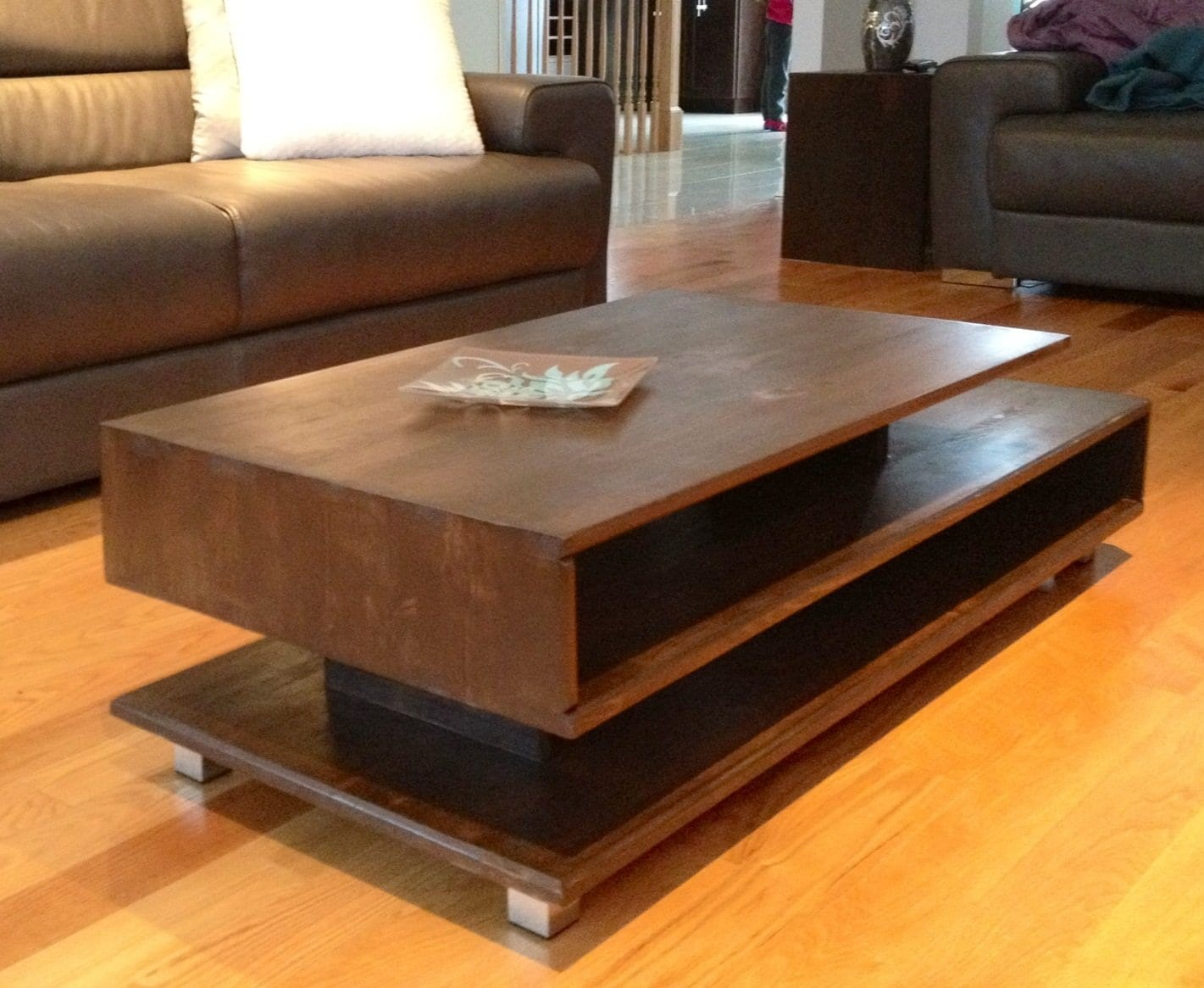 Rustic Square Coffee Table Decoration