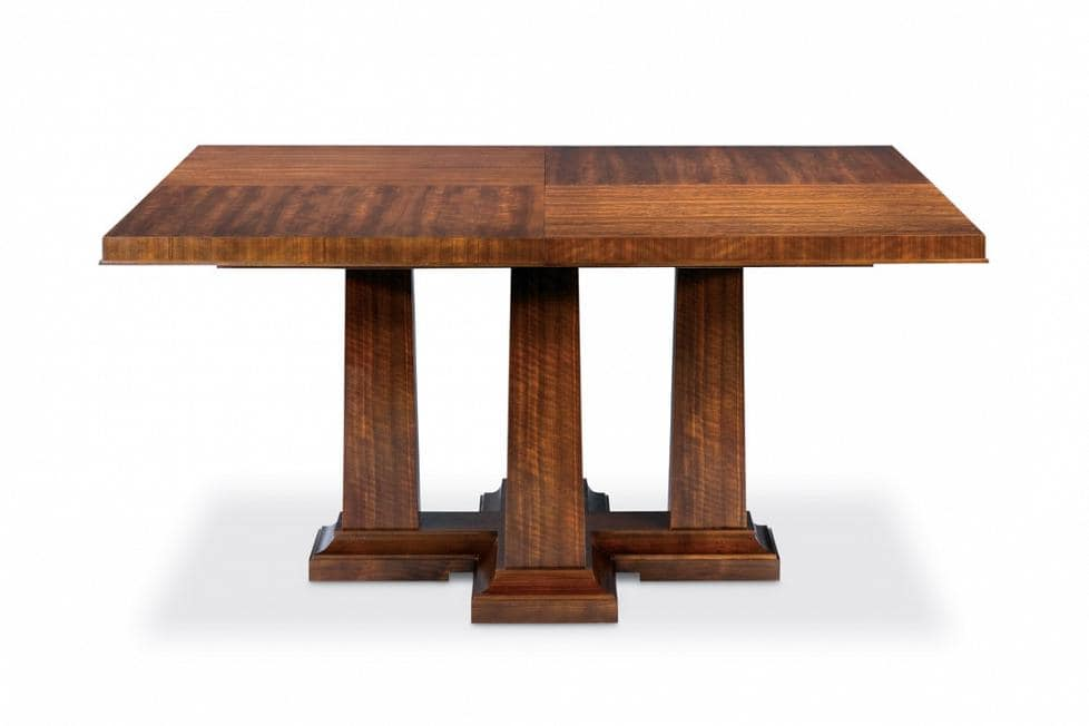 Rustic Square Pedestal Dining Table