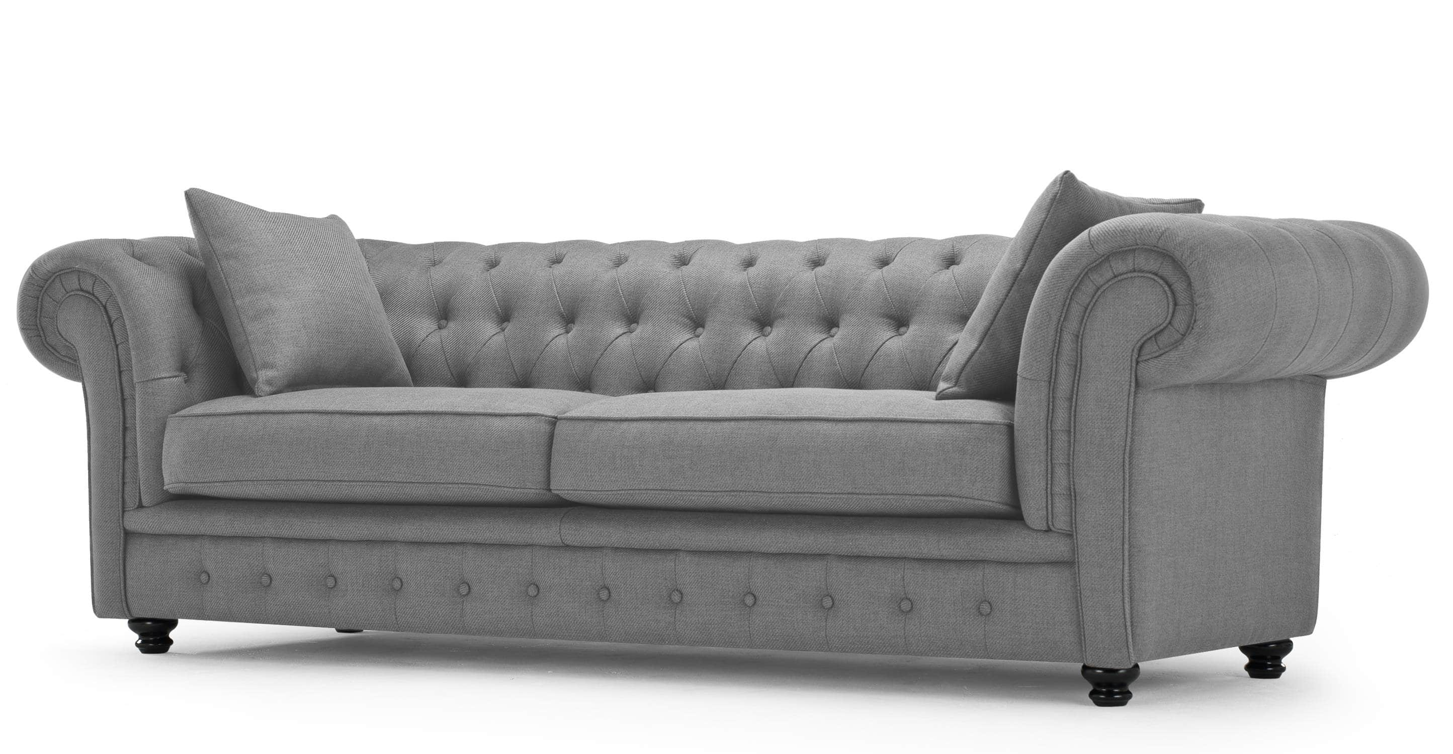 Simple Grey Tufted Sofa