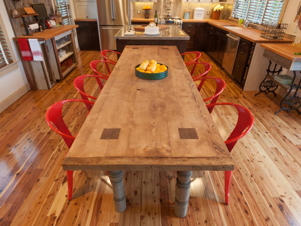 Simple Reclaimed Wood Kitchen Table